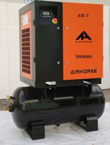 Whole Sale Price Tank Mounted Rotary Screw Air Compressor pictures & photos