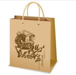 Customized Kraft Paper Bag Logo Printed Kraft Paper Sandwich Bag pictures & photos