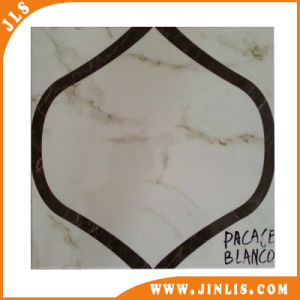 Black Stripe Marble Look Ceramic Floor Tile 4040 pictures & photos