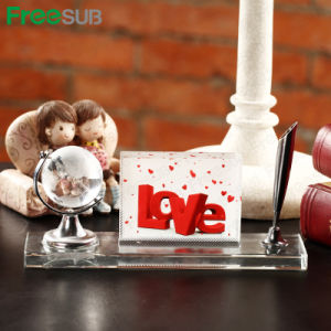 Freesub Global and Pen Set Blank Sublimation Crystal (BSJ23) pictures & photos