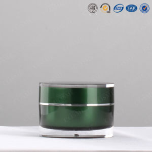 100g 200g Acrylic Round Jar Double Wall Cosmetic Jar pictures & photos