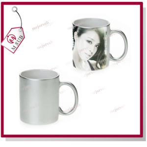 11oz Silver Ceramic Mugs for Sublimation by Mejorsub pictures & photos