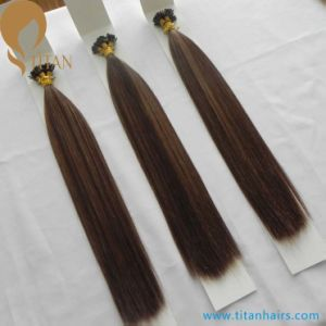 Piano Color 4/8# Indian Remy Keratin Flat Tip Hair Extension