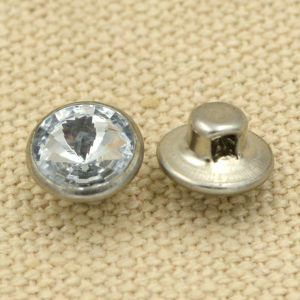 Transparent Pearled Metal Brass Shank Button for Sewing pictures & photos