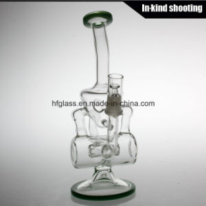 Recycler Oil Rig Hitman Glass Water Pipe Smoking Hookah Shisha Bent Glass Heady Tobacco Bubbler Wholesale pictures & photos