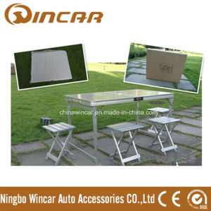 Fire-Proof Plate Folding Camping Table with 4 Chairs