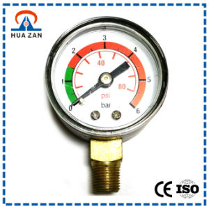 1.5 Inches Plastic Case Dry Gerenal Pressure Gauge with Color Dial pictures & photos