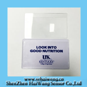 Custom Logo Design PVC Credit Card Magnifier 3X (HW-813) pictures & photos