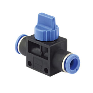 Plastic Pneumatic Fitting Hand Valve Hvff-06-06 pictures & photos