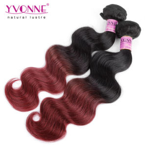 Top Quality Ombre Hair Peruvian Remy Human Hair Weft pictures & photos
