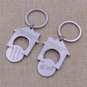2016 Custom Cheapest Promotion Trolley Coin Holder Metal Keychain Key Ring pictures & photos