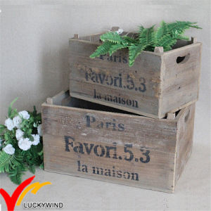 Farm Crate Antique Old Reclaimed Wooden Flower Plant Pot pictures & photos