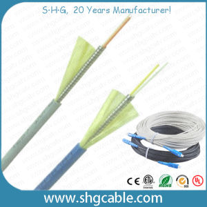 1-4 Fibers Armor FTTH Fiber Optic Cable (FTTH-AM-XC) pictures & photos