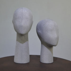 High Grade Semiabstract Female Mannequin Head in Linen Wrapped pictures & photos