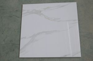 Calacatta Marble Like Porcelain Carrara Tile 60X60 pictures & photos