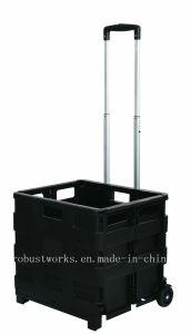 Folding Plastic Portable Shopping Cart (FC403K-3-1) pictures & photos