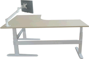 L Shaped Electric Height Adjustable Desk (LDG-ED302) pictures & photos