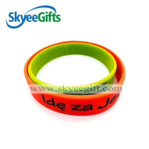Custom Made Logo Silicone Bracelets pictures & photos
