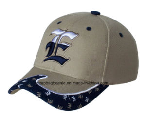 High Quilty 100% Cotton 3D Embroidery Baseball Cap pictures & photos