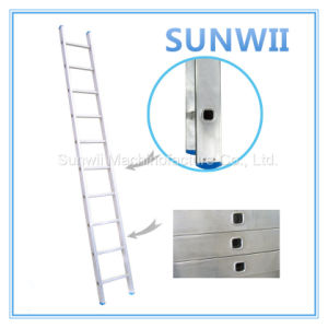 Straight Aluminium/Aluminum Scaffold Ladder pictures & photos