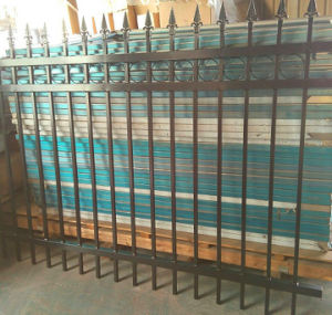 Powder Coated Iron Fence Welded Metal Fence Garden Fence pictures & photos