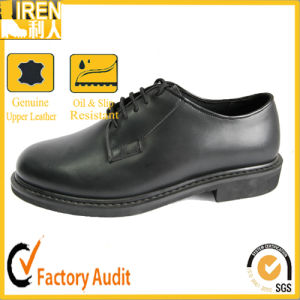Black Gueuine Cow Leather Army Boot Military Office Shoes for Sale pictures & photos
