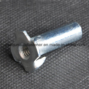 Blue Zinc Plated Furniture Four Prongs Tee Nut (CZ053)