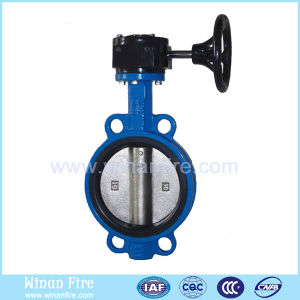 Water Control Manual Flange Butterfly Valve pictures & photos
