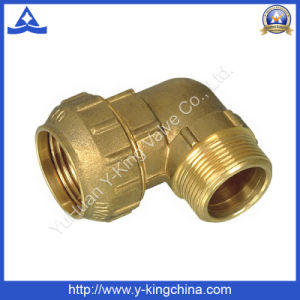 Male Thread Brass Elbow Compression /Spanish Pipe Fitting (YD-6044) pictures & photos