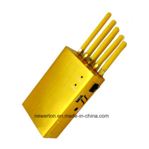 5-Band Portable Golden Mobile Phone Signal Blocker GPS Jammer WiFi Signal Blocker pictures & photos