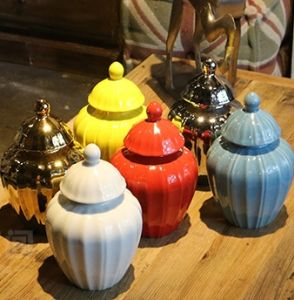 Single Glazed Ceramic Pumpkin Canister (LJ-130) pictures & photos