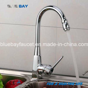 Hot New Kitchen Faucet Hot&Cold Mixer Sink Tap Brass Chrome Single Handle Hole pictures & photos