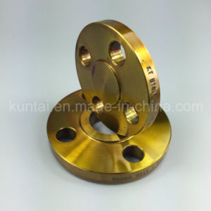 A105 Carbon Steel Slip-on Flange Forged Flange with Yellow Coating (Kt0007) pictures & photos