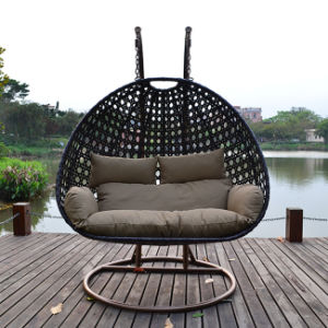 Outdoor Rattan Wicker Cane Hanging Swing Chair Outdoor Furniture with Stand pictures & photos
