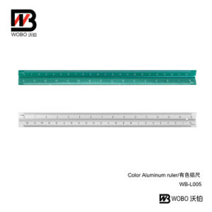 2 Color Aluminum Ruler for Office Stationery 2016