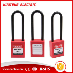76mm Plastic Long Shackle Safety Padlock pictures & photos