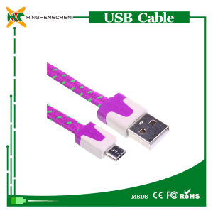 Colorful Micro USB Cable Alloy Nylon Braided USB Cable pictures & photos