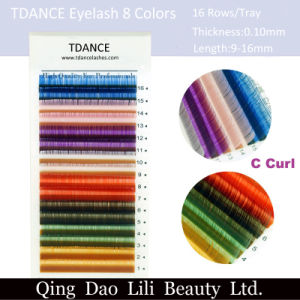 Lili Beauty Wholesale High Quality Colored Individual Eyelashes Extensions pictures & photos