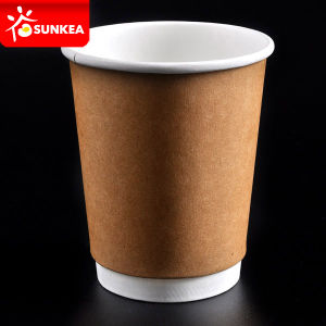 10oz 12oz White Double Layer Coffee Cups pictures & photos