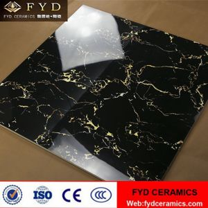 Foshan Black and Gold Tile Glazed Marble Tiles pictures & photos