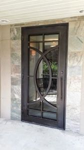 Modern Style Wrought Iron Single Door for Entry Door pictures & photos