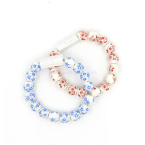 China Beads Wrist Bracelet USB Sync Data Cable for iPhone