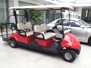 48V 3kw 4 Seats Electric Golf Cart with Caddy Plate, EQ9042 pictures & photos