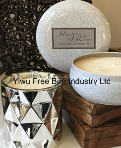 Safety Luxury Tin Custom Scented Candle with Gift Box