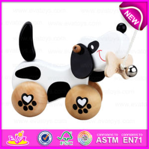 Kids Toddler Wooden Dog Pull Along Toys, Wooden Baby Push and Pull Dog Toy W05b106 pictures & photos