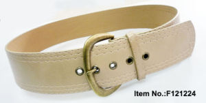 Beige Simple Style PU Belt pictures & photos