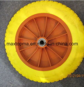 300-8 Solid Flat Free PU Foam Wheel pictures & photos