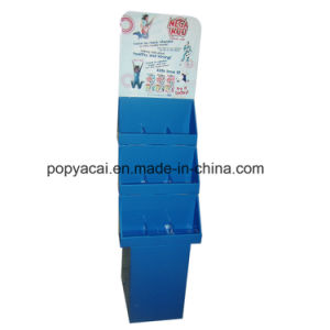 Candy Cardboard Floor Display Stand for Store Corrugated Retail Display Three Shelves pictures & photos