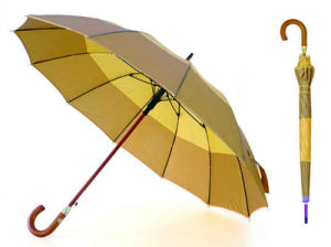 High Quality Strip Border Wooden Shaft Pearl Umbrella (YS-SM26163554R) pictures & photos