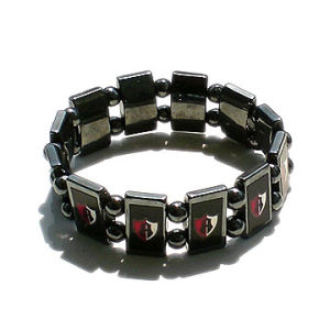 Hematite Rosary Bracelet with Saint Picture pictures & photos